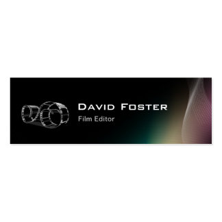 Video Film Editor Cutter Director Double-Sided Mini Business Cards (Pack Of 20)