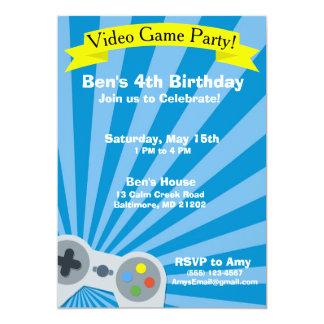 Video Game Birthday Party Invitation