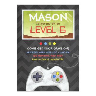 Video Game Boy Birthday Party Invitation