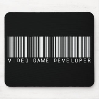 Video Game Developer Bar Code Mouse Pad