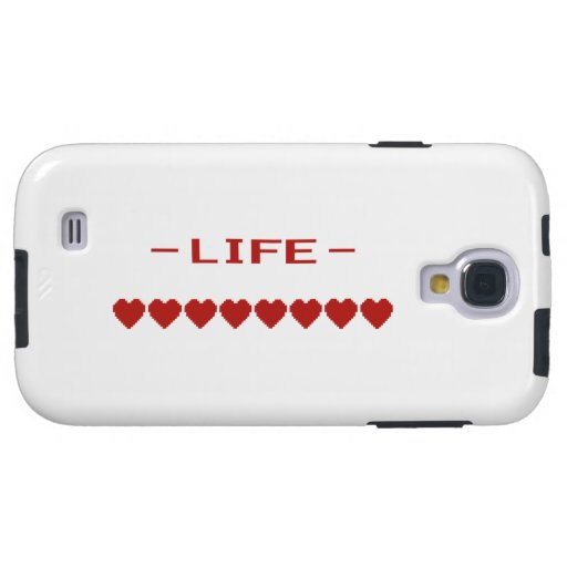 Video Game Heart Life Meter Galaxy S4 Case