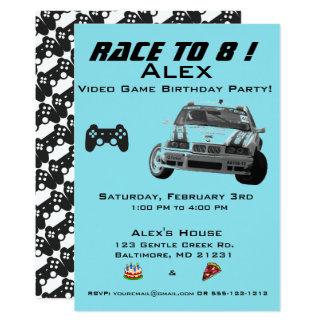 Video Game Kids Birthday Party Invitation