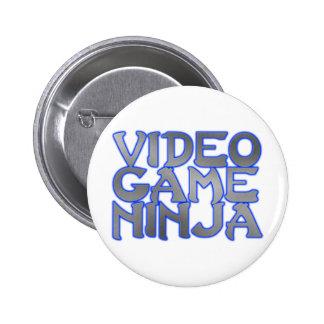 VIDEO GAME NINJA (blue) 6 Cm Round Badge