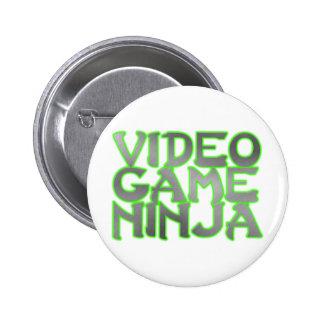 VIDEO GAME NINJA (green) 6 Cm Round Badge