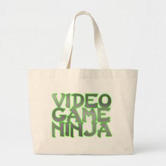 VIDEO GAME NINJA (green) Jumbo Tote Bag