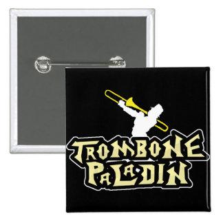 video game parody trombone paladin 15 cm square badge