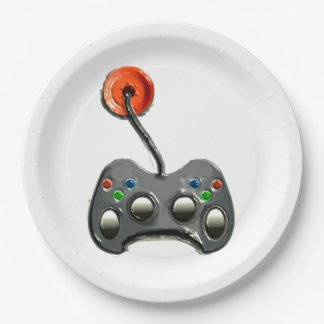 video game party plates