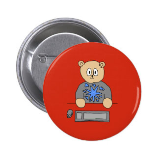 Video Game Player Bear Button