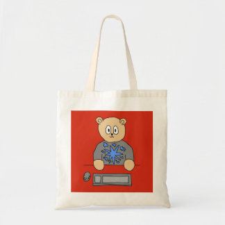 Video Game Player Bear Tote Bags
