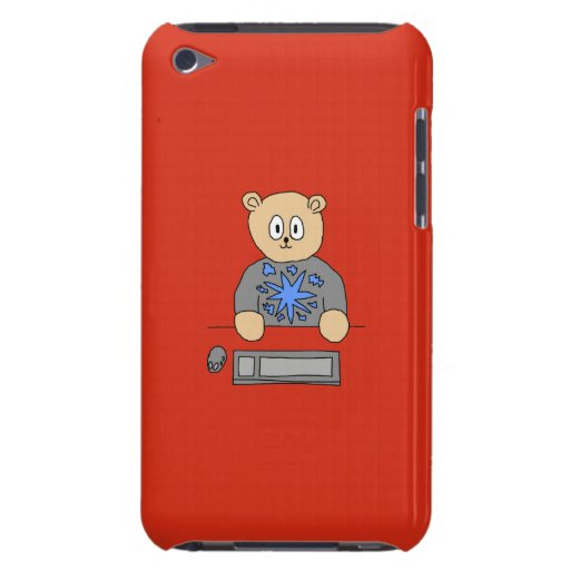 Video Game Player Bear. Barely There iPod Case