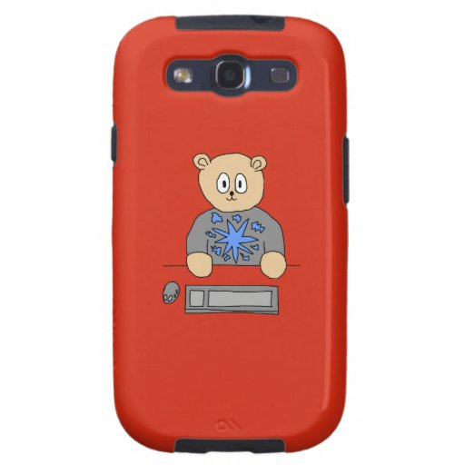 Video Game Player Bear. Samsung Galaxy S3 Cases