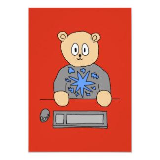 Video Game Player Bear. Invites