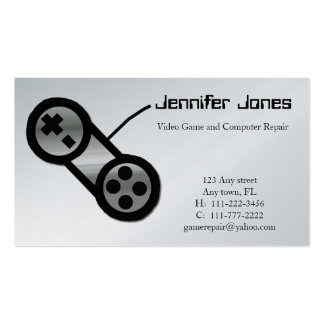 Video game business cards 457 video game busines card for Video game business cards