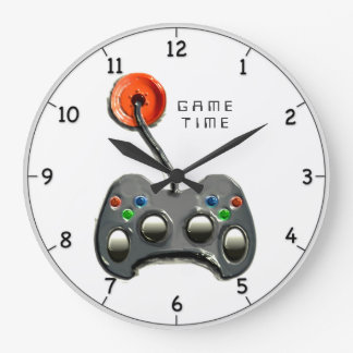 Video Gamer Large Clock