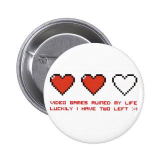 Video Games 6 Cm Round Badge