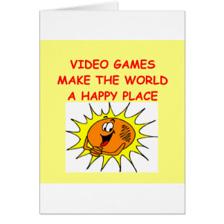video games card