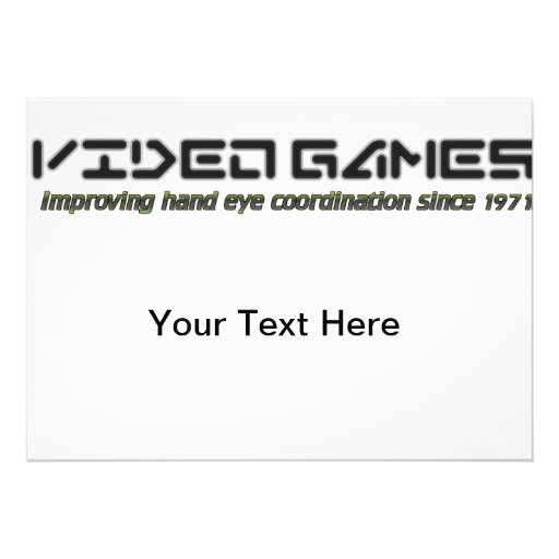 Video Games: Improving Hand Eye Coordination Custom Invites