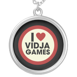 Video Games Round Pendant Necklace