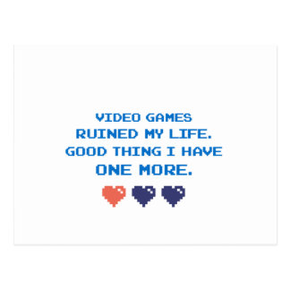 VIDEO GAMES POSTCARD