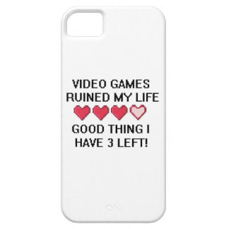 Video Games Ruined My Life Style 1 iPhone 5 Cover