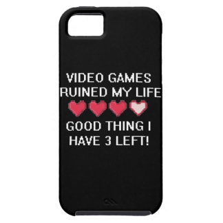 Video Games Ruined My Life Style 1 Case For The iPhone 5