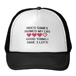 Video Games Ruined My Life Style 1 Hats