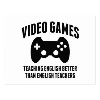 Video Games Teaching English Postcard