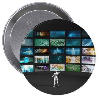 Video Marketing Across Multiple Channels 10 Cm Round Badge