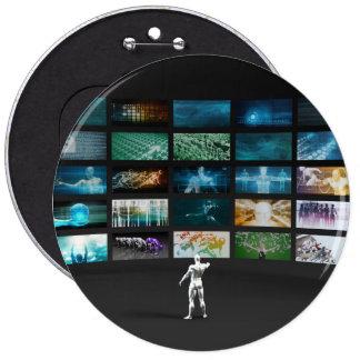 Video Marketing Across Multiple Channels 6 Cm Round Badge