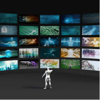 Video Marketing Across Multiple Channels Photo Sculpture Decoration