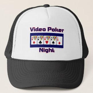 video poker night trucker hat