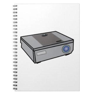 Video projector spiral notebook