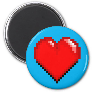 Videogame Life Heart - Pixel Heart Magnet