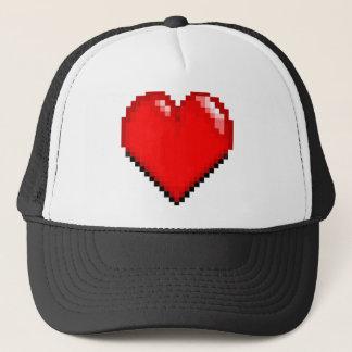Videogame Life Heart - Pixel Heart Trucker Hat