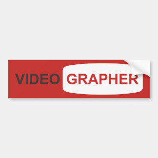 Videographer or Youtuber Bumper Sticker