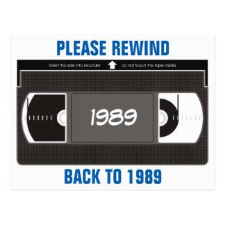 Videotape Rewind Postcard