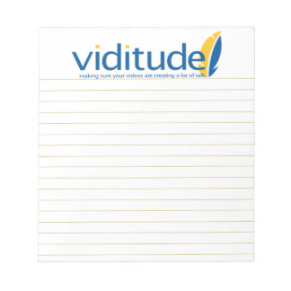Viditude small lined notepad