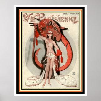 Vie Parisienne Art Deco Cover Poster 16 x 20