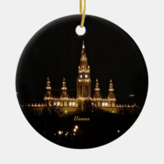 Vienna at Night Ceramic Ornament