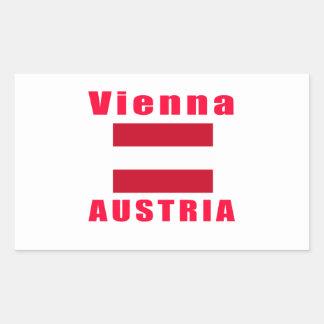 Vienna Austria capital designs Rectangular Sticker