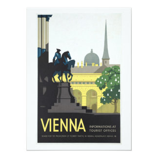 Vienna Austria - Vintage Travel 14 Cm X 19 Cm Invitation Card