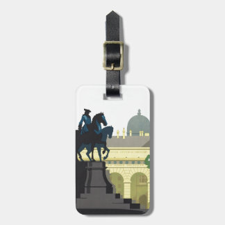 Vienna Austria - Vintage Travel Luggage Tag