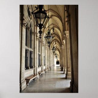 Vienna City Hall Architecture Poster