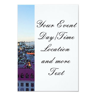 "Vienna City, toony (A) 3.5"" X 5"" Invitation Card"