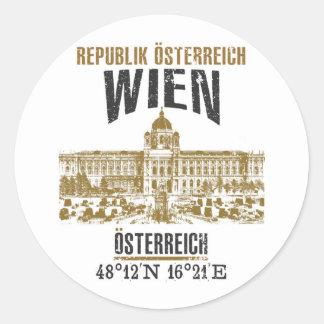 Vienna Classic Round Sticker