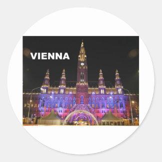 Vienna Rathaus Eistraum (St.K) Classic Round Sticker