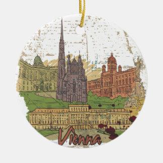Vienna Round Ceramic Decoration