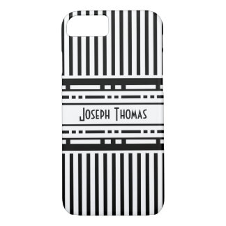 Vienna Secession Black and White Stripes iPhone 8/7 Case