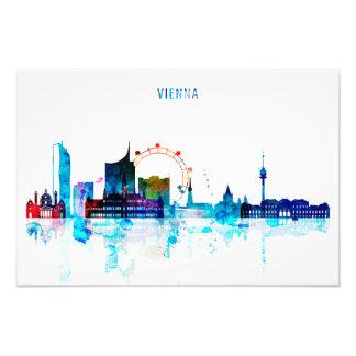 Vienna skyline, Austria Watercolor Art Photo Print
