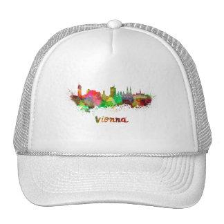 Vienna skyline in watercolor cap